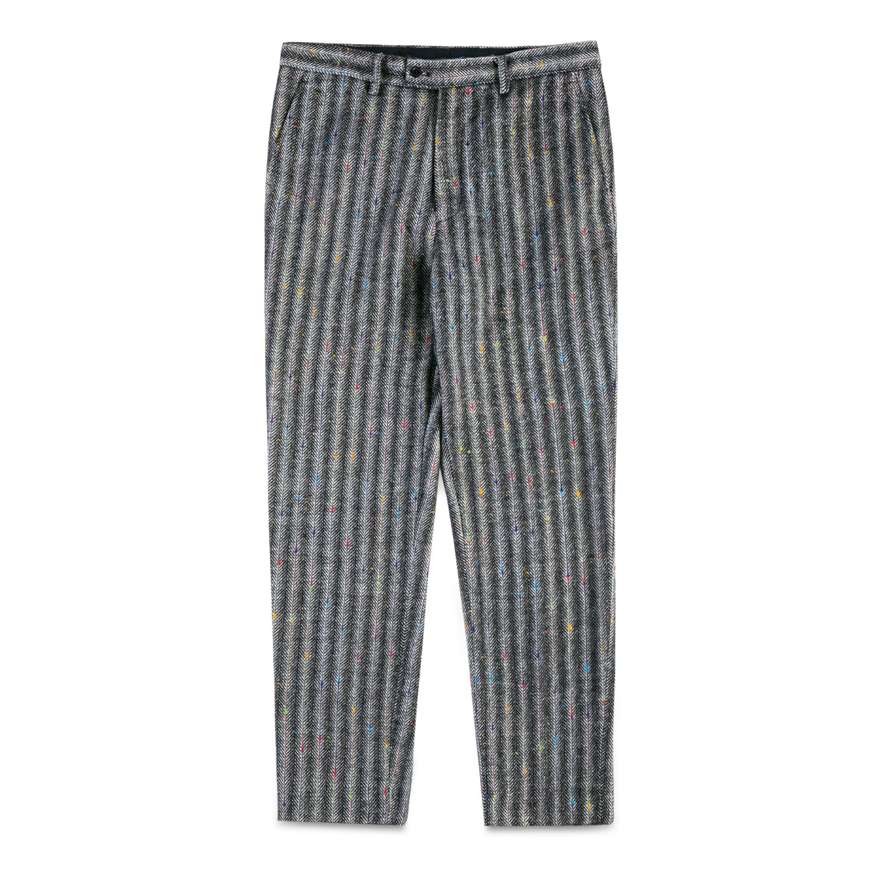 Strips with Color Stitching Pants