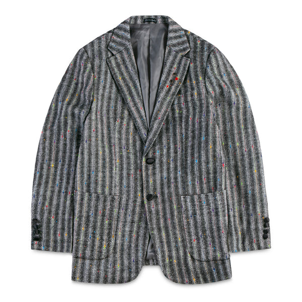 Strips with Color Stitching Blazer