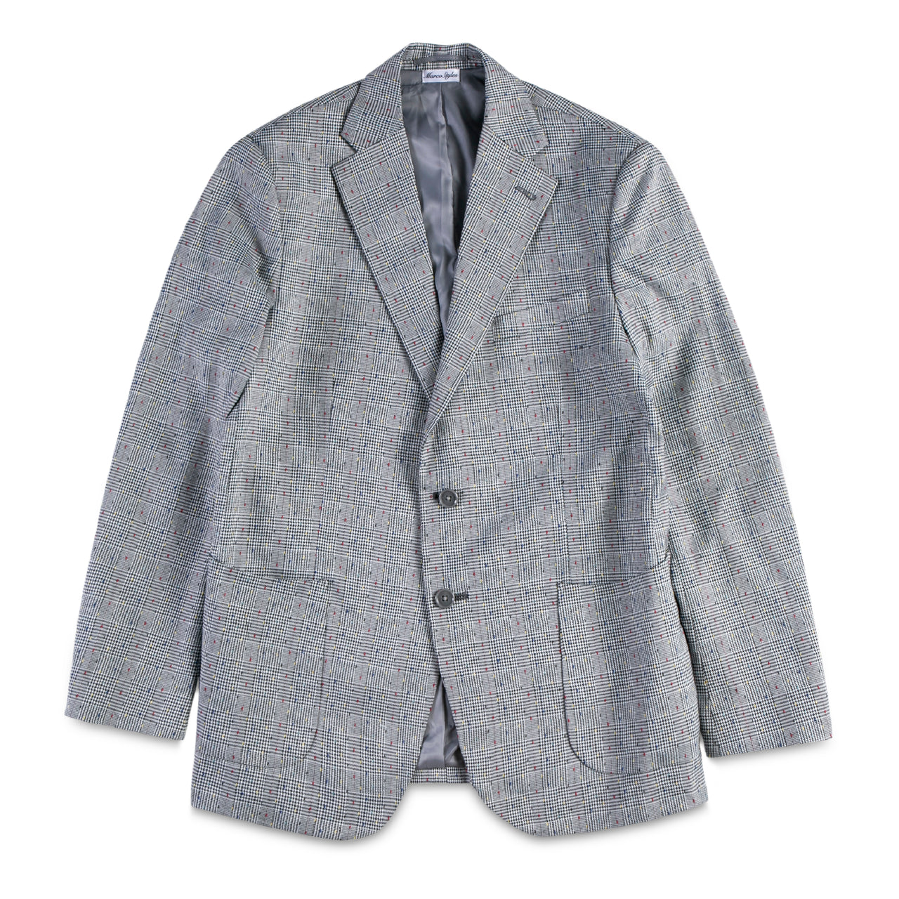 Checker with Color Stitching Blazer