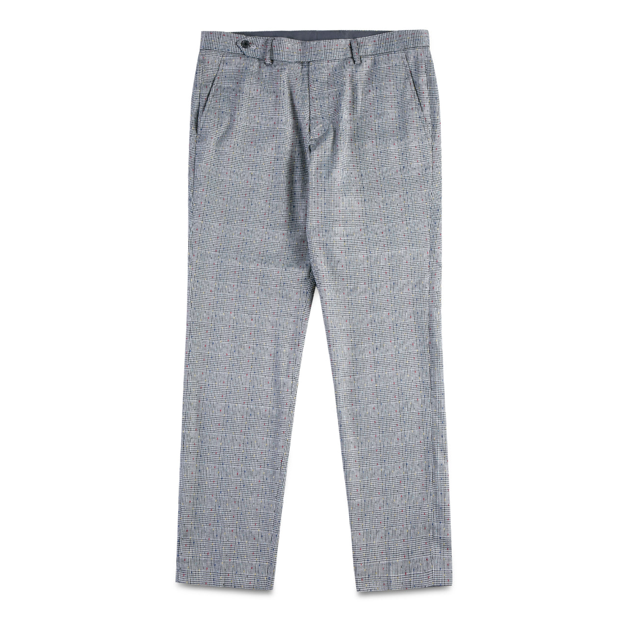 Checker with Color Stitching Pants