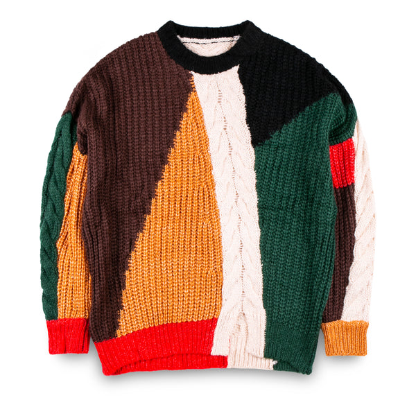 MADMAD Patchwork Knitwear