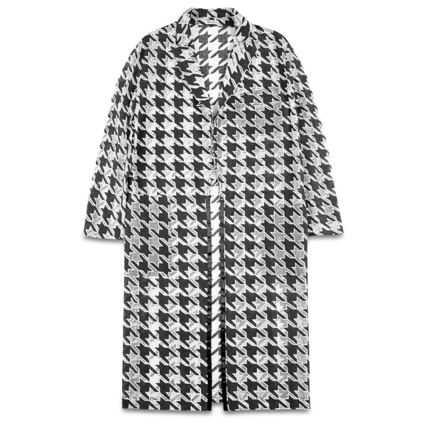 Transparent Houndstooth Coat
