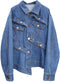 Button Play Flared Organic Cotton Denim Jacket