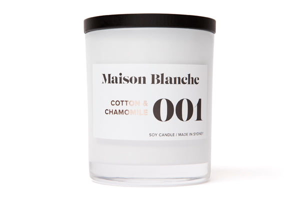 001 Cotton & Chamomile Candle