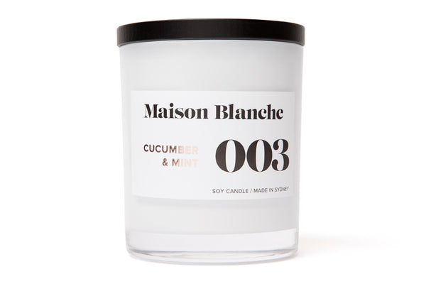 003 Cucumber & Mint Candle