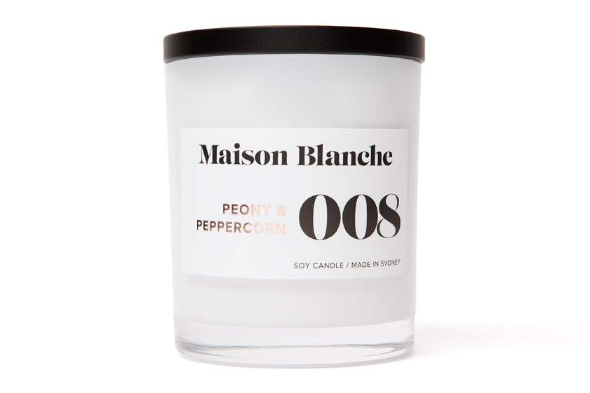 008 Peony & Peppercorn Candle