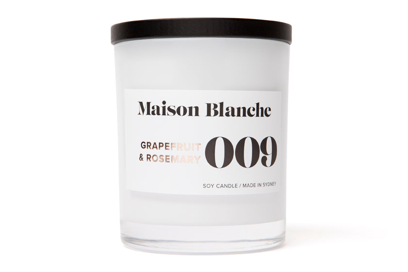 009 Grapefruit & Rosemary Candle