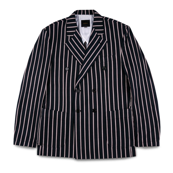 MarsPeople Double Breasted Striped Blazer