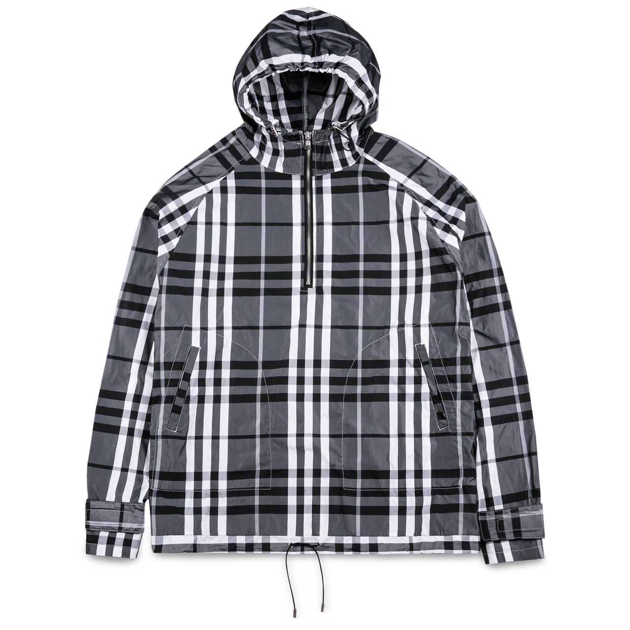 Eden Half-Zip Hooded Tartan Jacket