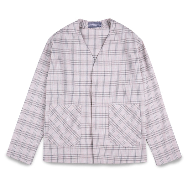 Coin Garments Collarless Tartan Blazer