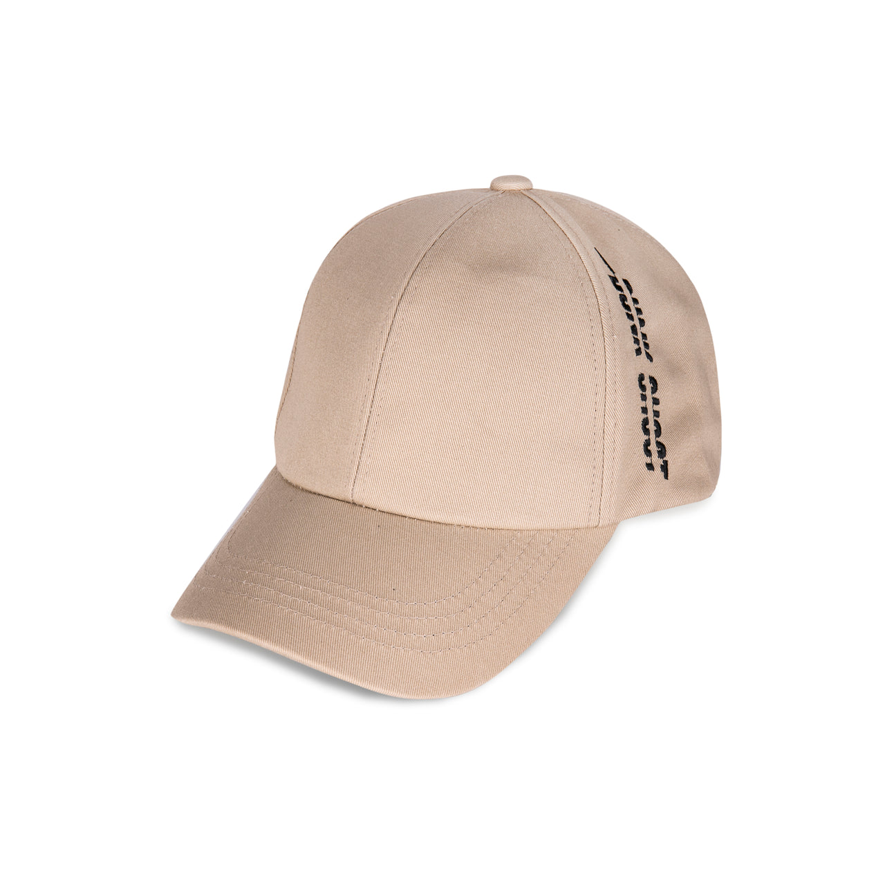 "Beige Cap with ""DUNK SHOOT"" Logo"