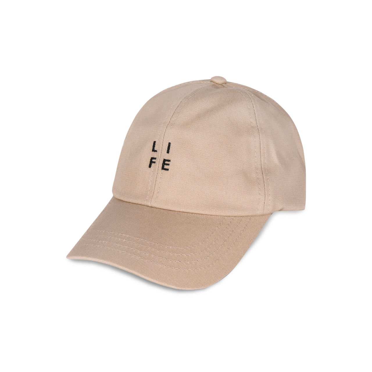 "Beige Cap with ""LIFE"" Logo"