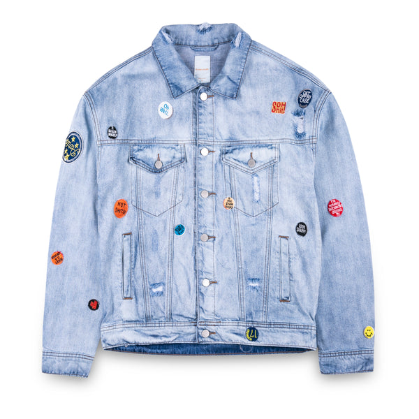New Studio Denim Jacket with Badges