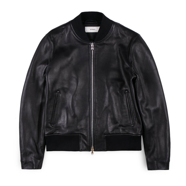 Creative Ant Leather Bomber Jacket