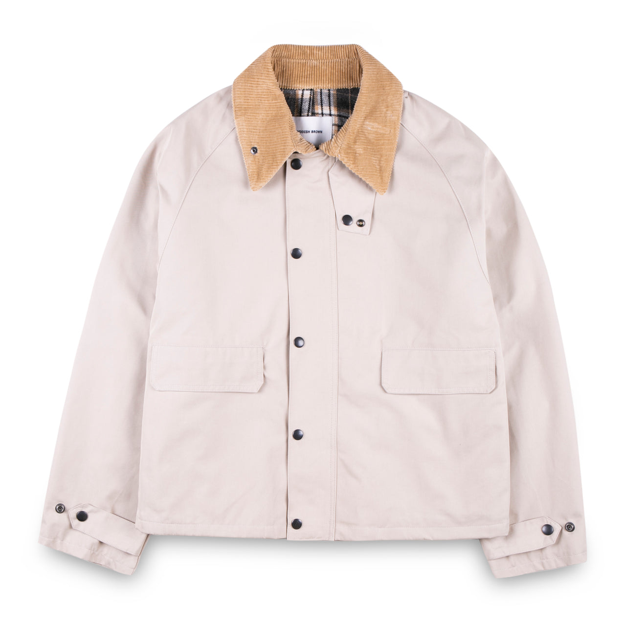 Reddish Brown Cord Collar Jacket