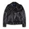 Edison Store Leather Biker Jacket with Silver Button
