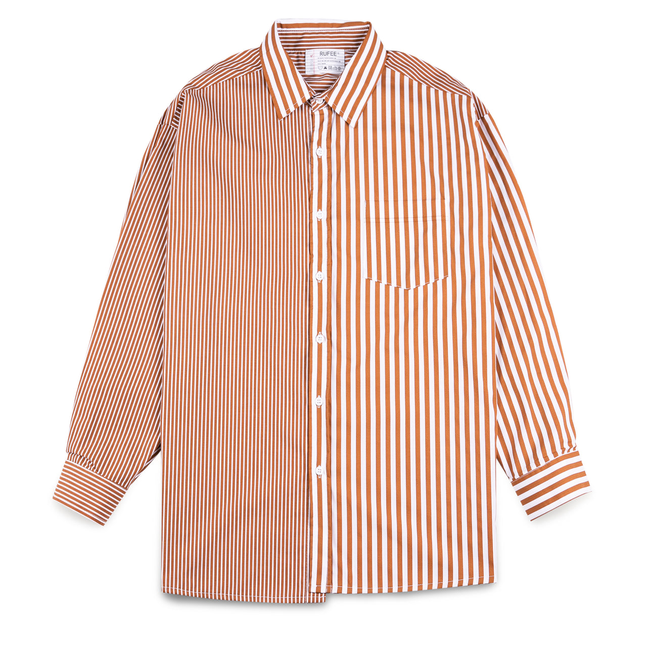 Rupee Brown Striped Shirt