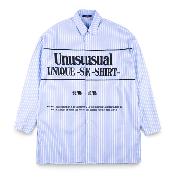 MADMAD Light Blue Long Shirt with Words
