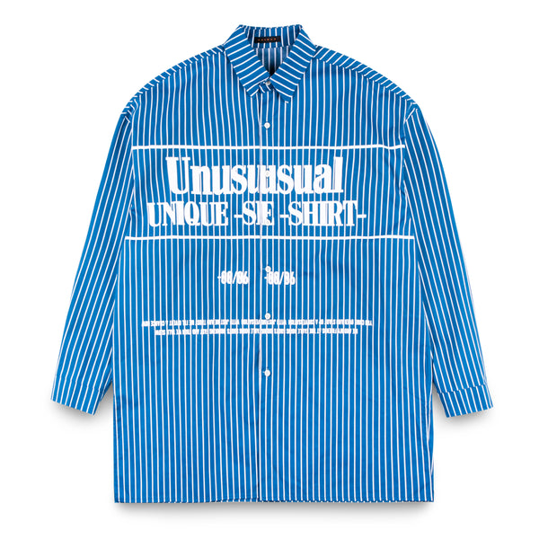 MADMAD Navy Long Shirt with Words