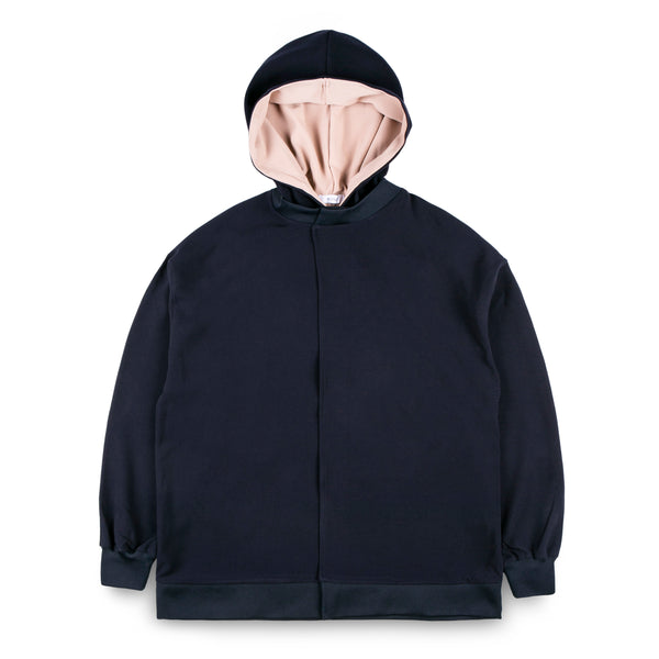 MONE Hooded Placket Sweatshirt
