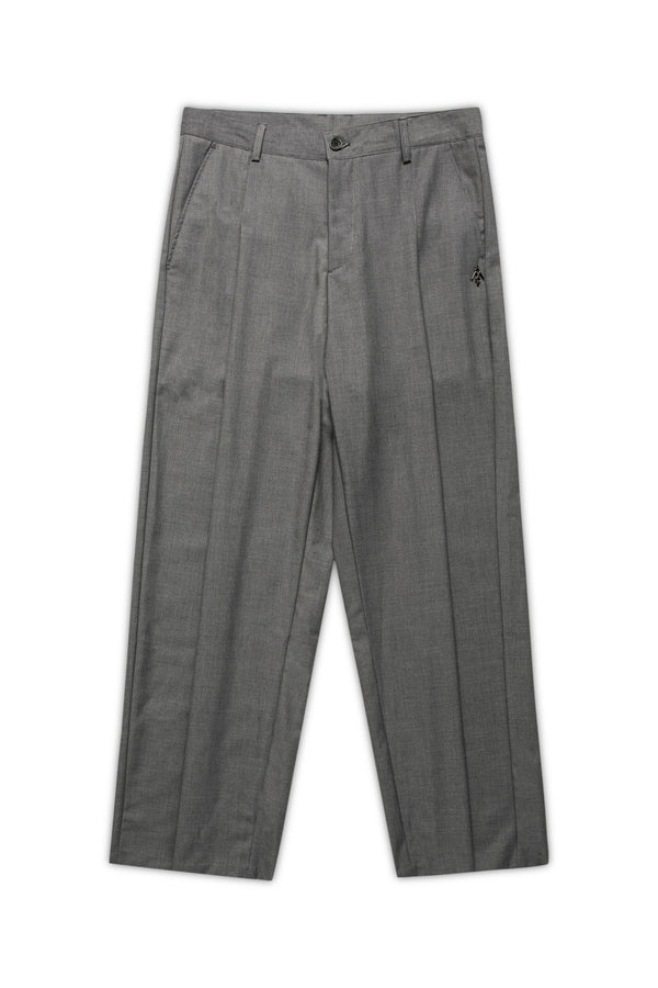 Smart Tapered Wide-Leg Pants - Cloud Gray