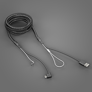 Reinforced Micro-USB Cable Black