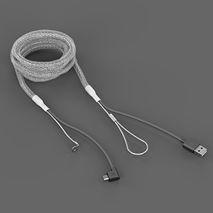 Reinforced Micro-USB Cable White