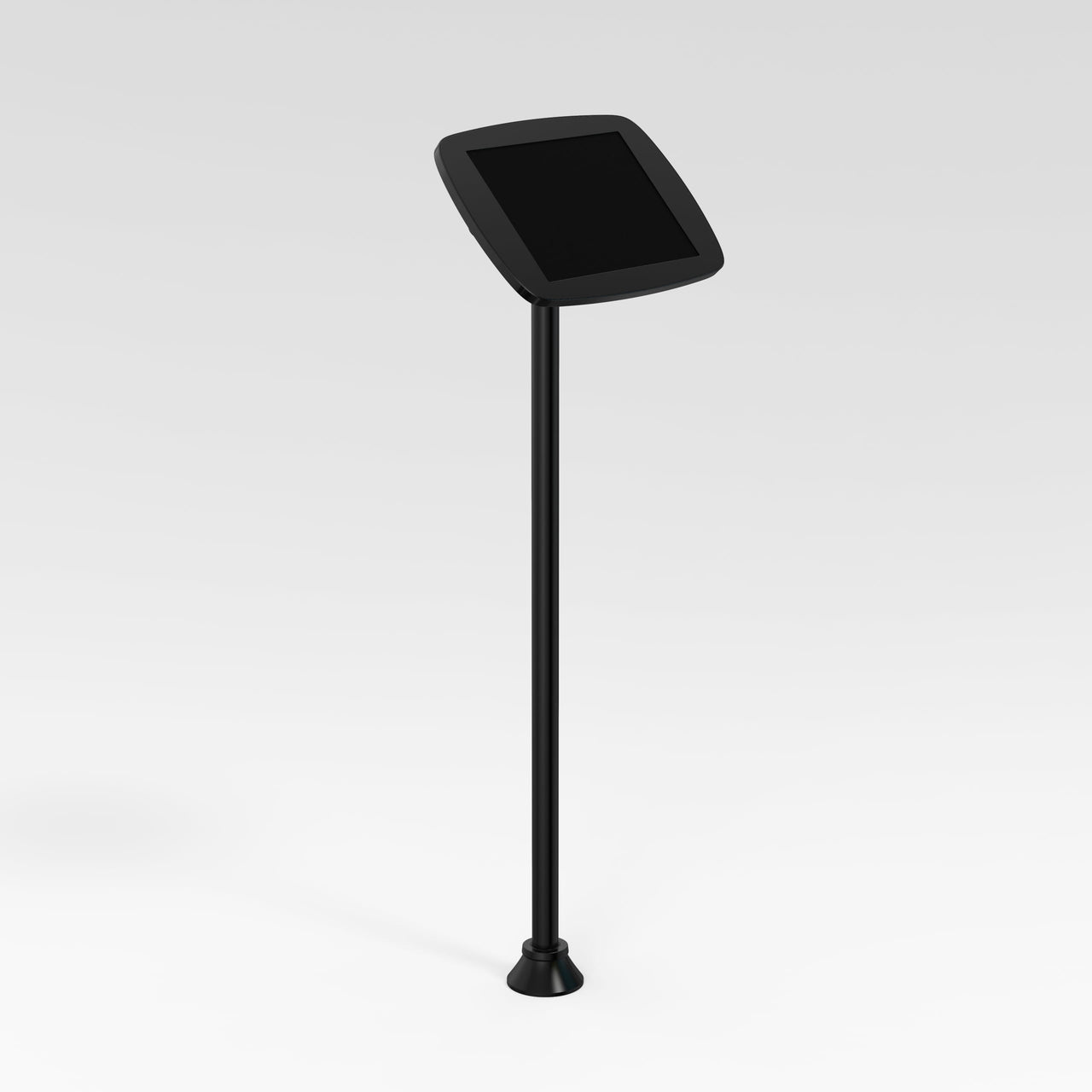 Bouncepad Floorstanding Slim - A secure tablet & iPad floor stand  in black.