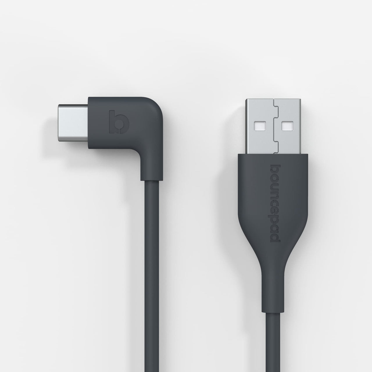 Right-Angled USB-C to USB-A 2 metre Sync and Charge Cable