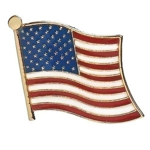 Waving American Flag Pin