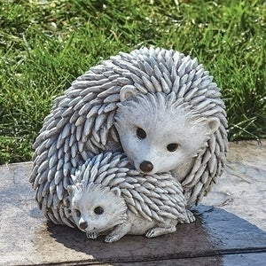 Hedgehog and Baby Pudgy Pal Garden Statue