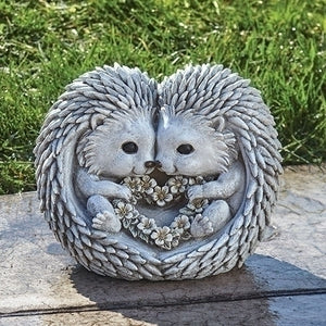 Hedgehogs in Love Pudgy Pal Garden Statue