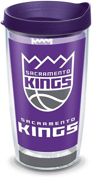NBA® Sacramento Kings Logo Royal Purple Lid 16 oz Tervis Tumbler