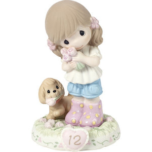 Growing In Grace Age 12 Brunette Girl Figurine