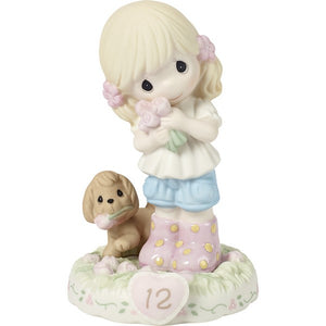 Growing In Grace Age 12 Blonde Girl Figurine