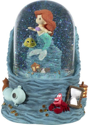 Precious Moments Disney Little Mermaid Ariel with Sea Treasures Musical Water Globe