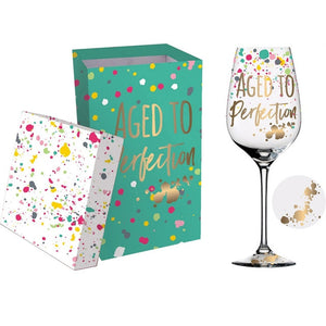 Aged to Perfection 12 oz. Wine Glass with Box