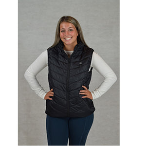 Soleil Heated Black Vest with 3 Heat Settings