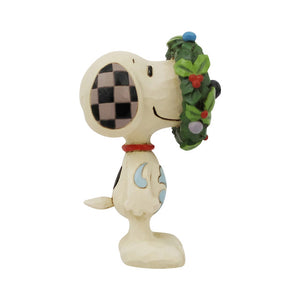 Jim Shore by Enesco Snoopy with Wreath Mini Figurine
