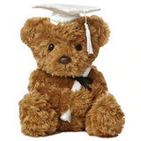 Aurora Wagner Graduation Bear White 8.5""