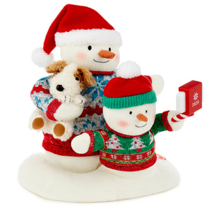 Hallmark Cozy Christmas Selfie Snowman 2020 Singing Stuffed Animal With Light and Motion, 9.5""