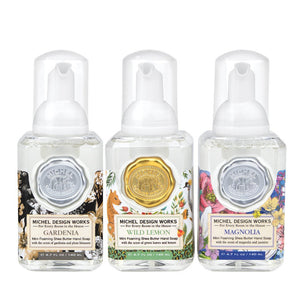 Michel Design Works Mini Foaming Hand Soap Set Includes: Gardenia, Wild Lemon, Magnolia