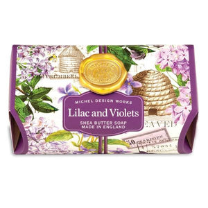 Michel Design Lilac and Violets Large Bath Soap Bar