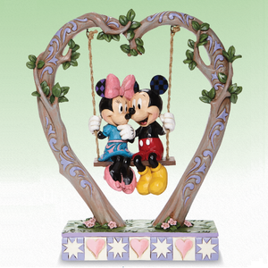 Jim Shore Mickey and Minnie Sweethearts in Swing Figurine