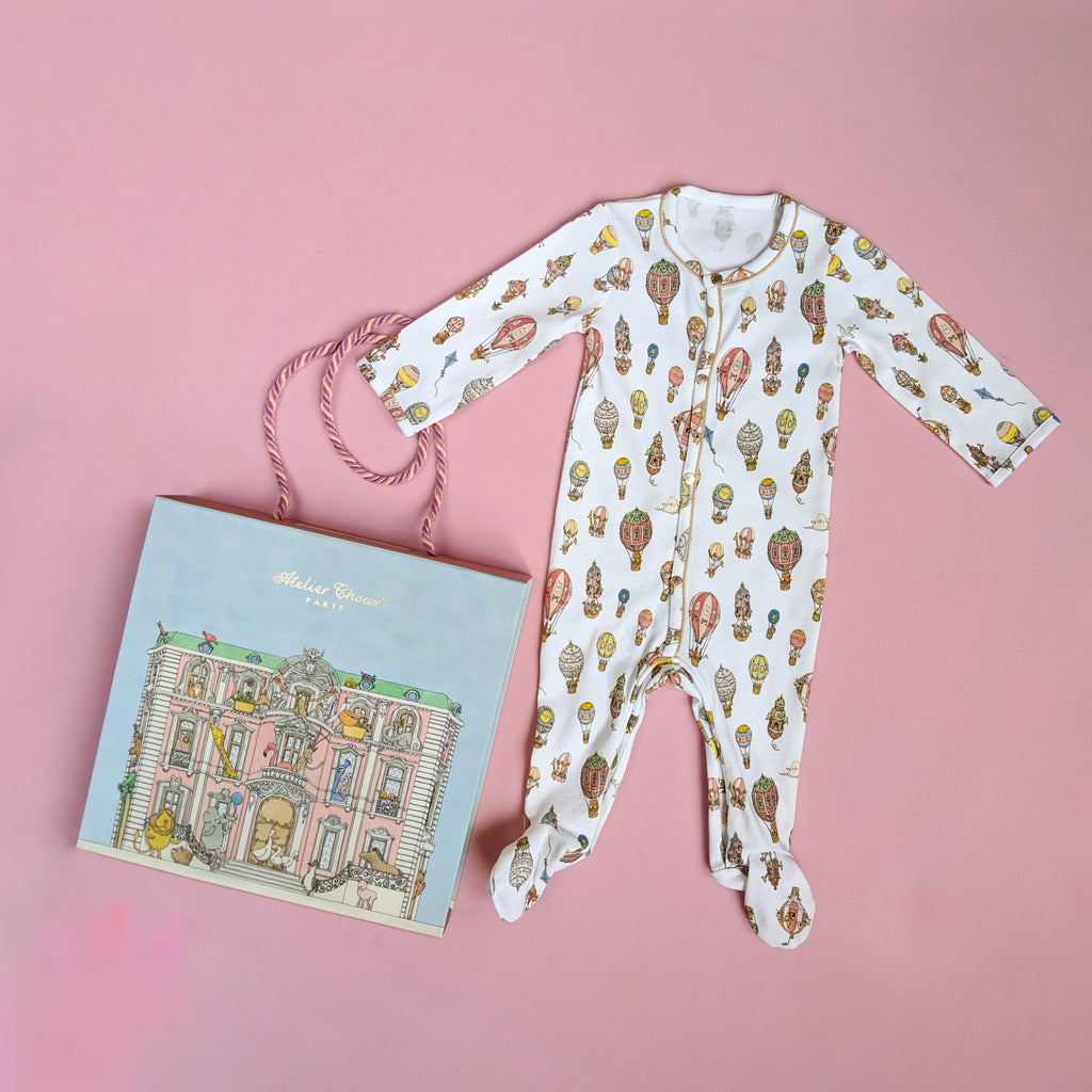 【Atelier Choux】Classic Playsuit - Balloons - Premium Baby Gift