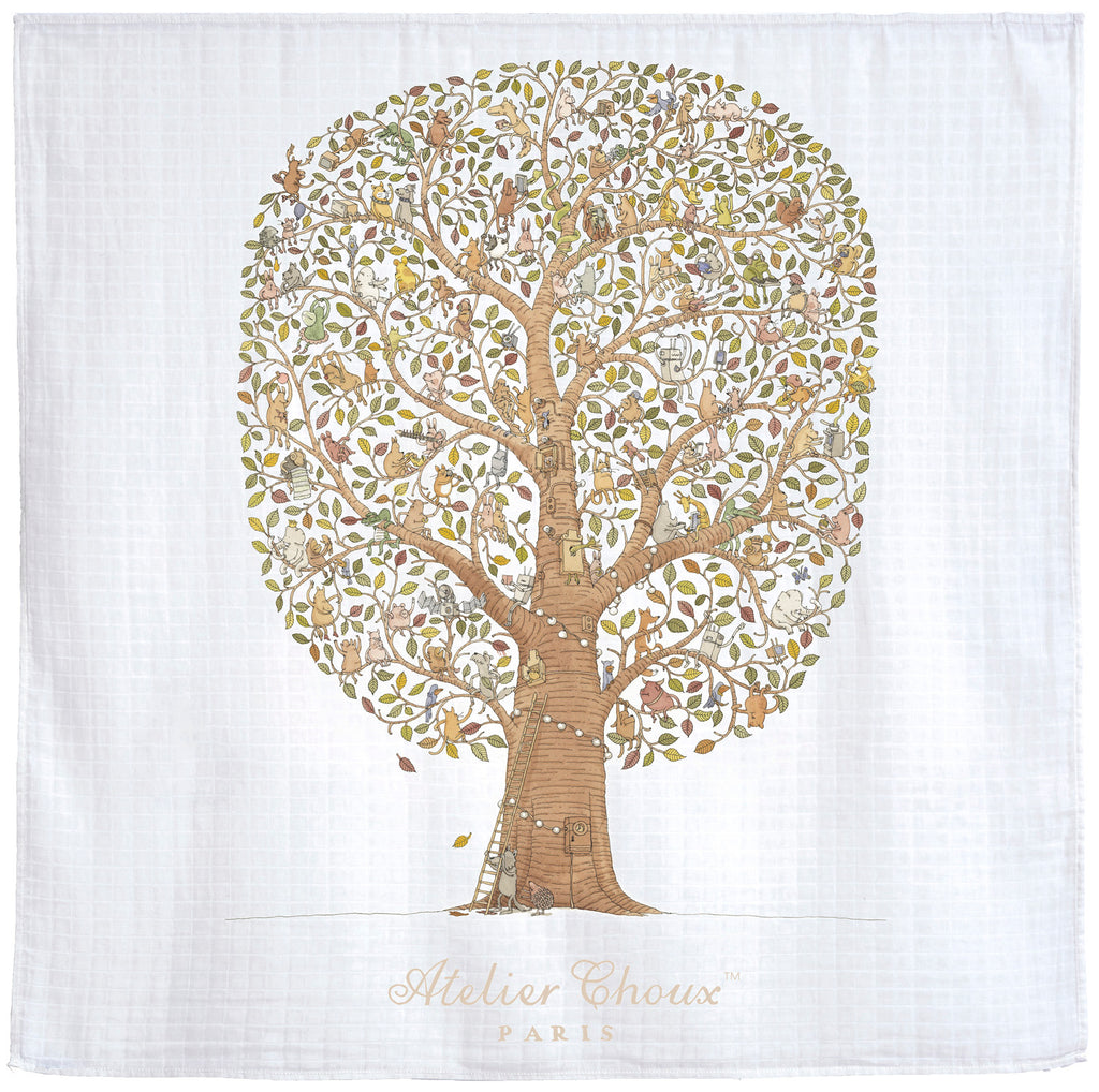 【Atelier Choux】Muslin - Friends And Family Tree - Premium Baby Gift