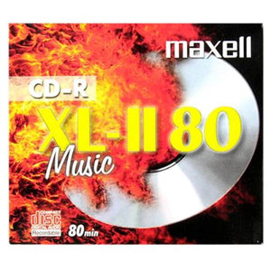 Maxell CDR XLII 80 music 10 pack with cases
