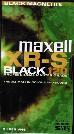 Maxell - XR-S Black 120mins VHS Tape