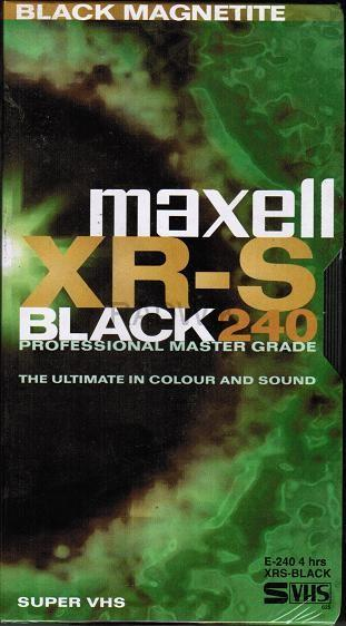 XR-S Black 240mins VHS Tape