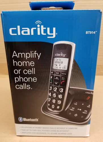*NEW* Clarity BT914 Amplified Bluetooth® Cordless Phone with Answering Machine